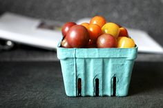 a basket of pretty tomato marbles by smitten, via Flickr