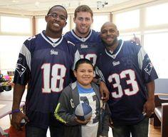 Slater, Fletcher & Faulk visit Hasbro Children's Hospital. #Patriots