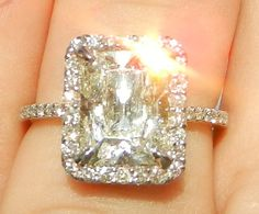 IGI Certified 367 Carat Diamond Engagement Ring by bluefirejewelry, $10000.00...Obsessed if only it were a better color