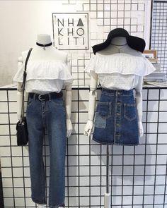 Cute Fashion, Look Fashion, Girl Fashion, Fashion Outfits, Womens Fashion, Fashion Trends, Street Fashion, Korea Fashion, Asian Fashion