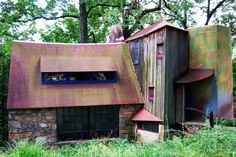 """WHARTON ESHERICK MUSEUM, Wharton Esherick  -  PA, USA      """"His legacy lies not in establishing a style, his designs were too unique, but in pioneering the way for successive generations of artists working in wood to exhibit and market their original, non-traditional designs."""" – WE Museum"""
