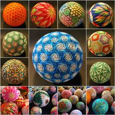 How to DIY Unique Embroidered Temari Balls | iCreativeIdeas.com Like Us on Facebook == https://www.facebook.com/icreativeideas
