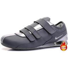 www.asneakers4u.com Mens Nike Shox R3 Velcro Black Silver Grey