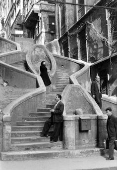 Stairs @ galata 1964 opposite SALT