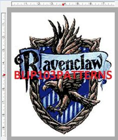 Harry Potter Ravenclaw House Crest Cross Stitch by Blip103patterns, $4.00