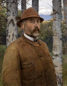 Self Portrait in a Leather Coat - Pál Szinyei Merse Beard Art, Saint Stephen, Family Problems, Museum Of Fine Arts, Color Mixing, Landscape Paintings, Leather Jacket, People, Portraits