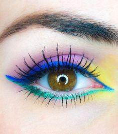 20 idées de maquillages pour sublimer les yeux marrons : fluo party