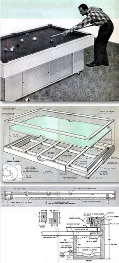 DIY Pool Table   Woodworking Plans And Projects | WoodArchivist.com
