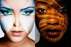 Butterfly Projection Portraits - 'Camouflage' by Carsten Witte Showcases Metamorphosis-Like Masks
