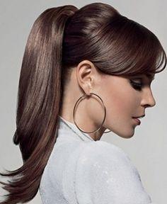 #hoops #earrings #ponytail