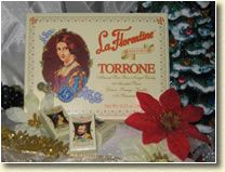 Torrone Italian Bon Bon Nougat candy: a traditional candy, prepared from the finest ingredients according to an original old world recipe.