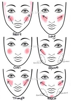 How do I use rouge for the face shape? How do I use rouge for the face shape? & Beauty Related posts:- Blush applicationHow to Get Glowing Skin. Blusher Makeup, Blusher Tips, Contour Makeup, Contouring And Highlighting, Eye Makeup, Makeup Blush, Beauty Makeup, How To Apply Blusher, How To Apply Makeup
