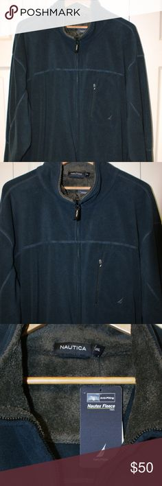 Men's Nautica Nautex Fleece Jacket size XXL...NWT Men's Nautica Nautex Fleece Jacket size XXL...NWT........full zip....side pockets....chest zip pocket....100% polyester....smoke/pet free....shipping within 1 business day....please ask any questions. Nautica Jackets & Coats Performance Jackets