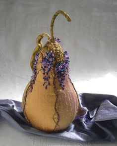 fabric embroidered pears