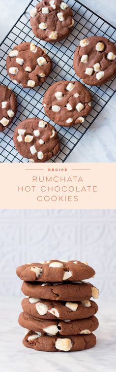 These Rumchata Hot Chocolate Cookies are the cookie incarnation of Rumchata spik., These Rumchata Hot Chocolate Cookies are the cookie incarnation of Rumchata spik. Cookie Desserts, Just Desserts, Cookie Recipes, Dessert Recipes, Cupcake Recipes, Spiked Hot Chocolate, Hot Chocolate Cookies, Rumchata Recipes, Rumchata Drinks