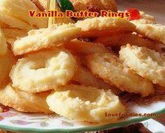 Vanilla Butter Ring Cookies