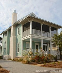 House of Turquoise: Turquoise Houses of WaterColor, Florida Best Exterior Paint, Exterior Paint Colors For House, Paint Colors For Home, Paint Colours, Beach Cottage Style, Beach House Decor, Beautiful Home Gardens, Beautiful Homes, White Exterior Houses