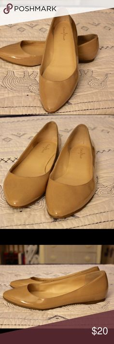 Cole Haan Nude Flats Nude Patent Leather Cole Haan Flats // stylish almond toe // only worn a few times // one spot of discoloration on the inside of the left shoe Cole Haan Shoes Flats & Loafers