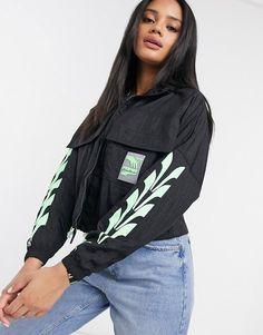 Puma evide track jacket in black and green. #puma #jackets #activewear