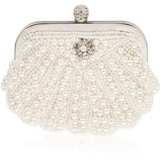 Elodie Scalloped Pearl Vintage Bridal Clutch Bag in Ivory Vintage... ❤ liked on Polyvore featuring bags, handbags, clutches, pearl clutches, vintage clutches, vintage purse, beaded pouch et vintage beaded handbag