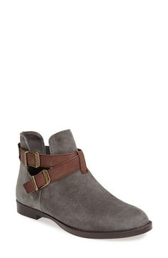 Free shipping and returns on BELLA VITA 'Raine' Leather Bootie (Women) at Nordstrom.com. Burnished buckles detail the crisscross straps of a round-toe leather bootie updated with breezy side cutouts.
