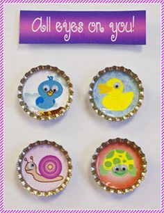 Interchangeable bottle cap jewelry. Bottle Cap Jewelry, Diy Jewelry, Crafting, Craft Ideas, How To Make, Fun, Kids, Collection, Repurpose