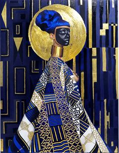 Syzygy, 2015 Lina Iris Viktor While Viktor is reluctant to be defined by any single movement, there are clear parallels in her work with Afrofuturism and its cultural exploration of the African diaspora. Klimt, Art Sombre, Dark Artwork, Fashion Sketchbook, African American Art, Black Artists, Les Oeuvres, Iris, Contemporary Art