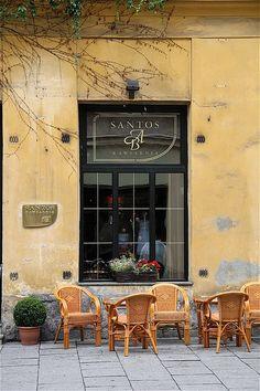 Cafe in Krakow, Poland