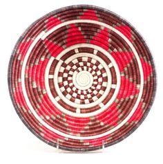 "12"" Thousand Hills Basket, Red/Multi"