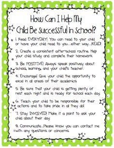 Ms. Sepp's Counselor Corner: How Can I Help My Child Be Successful in School? More