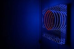 The German artist creates beautiful light sculptures that seem to go on indefinitely.