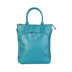 ᐧ - Shopper, Saffiano eco-leather- Large front pocket double zip fastening, Metal branded zip- Double handle, removable and adjustable shoulder strap- Enamel. Blue Bags, Wholesale Fashion, Metallica, Shoulder Strap, Shopping Bags, Jeans, Leather, Women, Custom Fabric