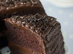 """Vegan Chocolate Fudge Cake """"Loaded with protein from the delicous hemp nuts, this vegan chocolate cake is so rich and moist you won't believe it's gluten free!"""" (and egg-free and dairy-free)"""