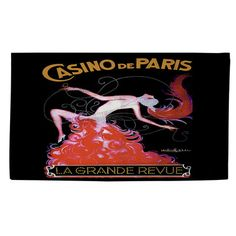Thumbprintz Casino De Paris Black/Red Area Rug