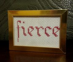 Fierce Cross Stitch