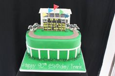 Horse racing track cake