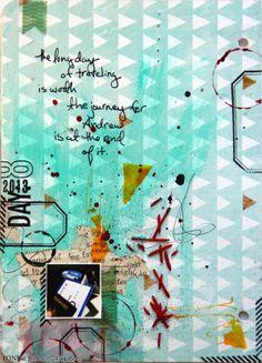 Ronda Palazzari Document Dec Art Journal Day 8 - stitching