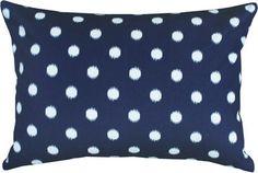 Small Ikat Dot, Navy #pillow #cushion #decor