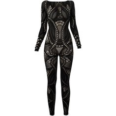 French Connection Aurora Rocks Body Suit (£65) ❤ liked on Polyvore featuring jumpsuits, bodysuit, dresses, one piece, rompers, black, romper jumpsuit, french connection jumpsuit, french connection romper and cutout romper