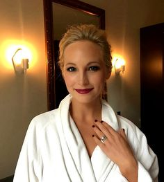 Candice Accola King getting ready for The Planned Parenthood Gala