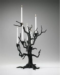 Old World Tree Table Candleholder in Candle Holders, style - Country/Rustic, by Cyan Designs, Model - finish - Black, family - Tree Chandelier Bougie, Objet Deco Design, Diy Luminaire, Decoration Chic, Goth Home Decor, Gypsy Decor, Gothic Furniture, Modern Furniture, Furniture Design