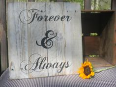 Handmade pallet art wood wall hanging Always and forever