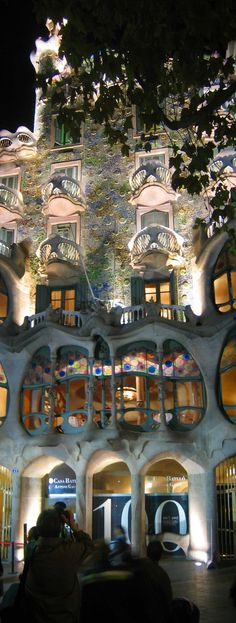 Casa Batlló (Gaudí), Barcelona, Spain.  Go to www.YourTravelVideos.com or just click on photo for home videos and much more on sites like this.