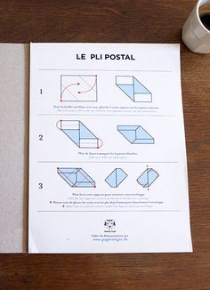 pli postal. letters that you write, fold, and mail