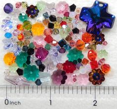 100 Assorted Swarovski Crystal Beads Clearance Cross Marguerite Bicone Butterfly #Assorted