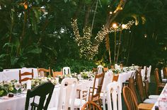Mismatched dining chairs at Villa Woodbine featured on SMP Florida today. Photography by Mandy and Me