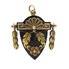 Victorian Mourning Brooch, 1860s