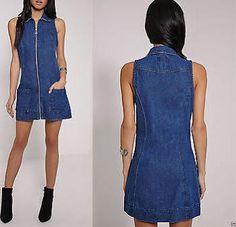 sleeveless denim dress - Google Search