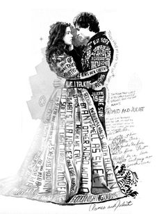 Romeo and Juliet by Glenn Wolk, via Behance - this, this is what I have in mind. If only I could draw.