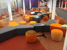 Deakin University Library - Waterfront campus - opening November 2013 - student lounge area
